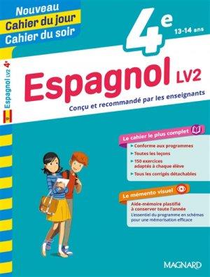 Cahier du jour/Cahier du soir Espagnol LV2 4e + mémento - Magnard - 9782210762459 -
