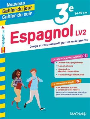 Cahier du jour/Cahier du soir Espagnol LV2 3e + mémento - Magnard - 9782210762466 -