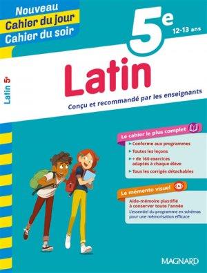 Cahier du jour/Cahier du soir Latin 5e + mémento - Magnard - 9782210762473 -