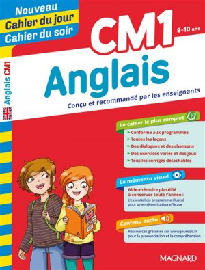 Cahier du jour/Cahier du soir Anglais CM1 - magnard - 9782210762534 -