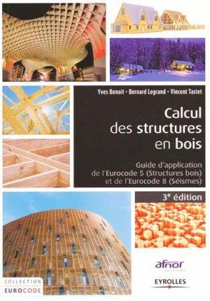 Calcul des structures en bois - eyrolles / afnor éditions - 9782212139969 -