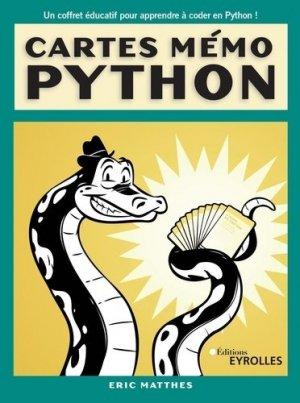 Cartes mémo Python. 101 cartes - Eyrolles - 9782212678604 -