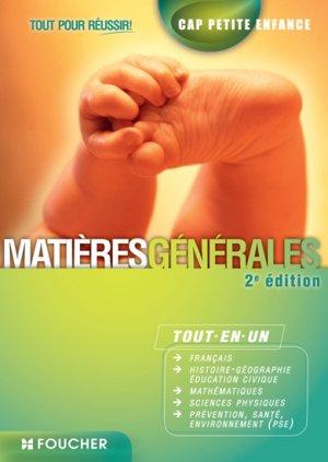 CAP Petite Enfance matières générales - foucher - 9782216129379 -