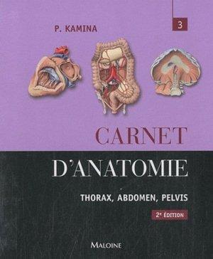 Carnet d'anatomie 3 - maloine - 9782224032432