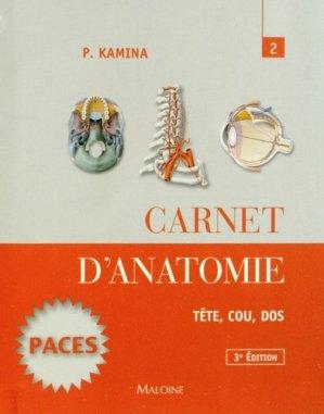 Carnet d'anatomie 2 - maloine - 9782224034153 -