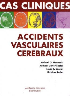 Cas cliniques : accidents vasculaires cérébraux - lavoisier msp - 9782257000538 -