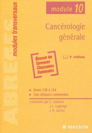 Cancérologie générale - elsevier / masson - 9782294019531 -