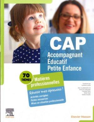 CAP Accompagnant éducatif petite enfance - elsevier / masson - 9782294761201 -