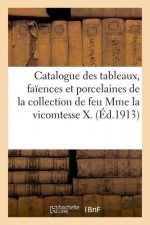 Catalogue des tableaux, faïences et porcelaines de la collection de feu Mme la vicomtesse X - Hachette/BnF - 9782329409801 -