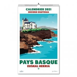 Calendrier Pays Basque. Edition 2021 - Editions Cairn - 9782350688497 -