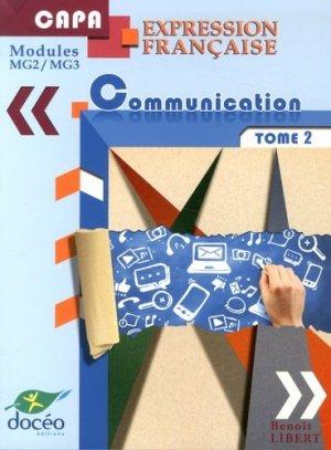 CAPA - Expression Française et Communication - Tome2 - doceo - 9782354971427 -