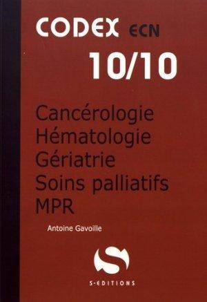 Cancérologie Hématologie Gériatrie Soins Palliatifs MPR - s editions - 9782356401823 -