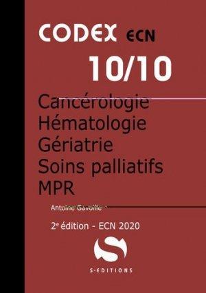 Cancérologie, hématologie, gériatrie, soins palliatifs, MPR - s editions - 9782356402134