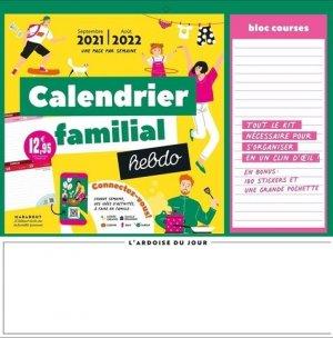 Calendrier familial hebdo - Marabout - 9782501154673 -