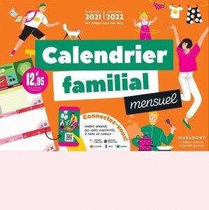 Calendrier familial mensuel - Marabout - 9782501154680 -