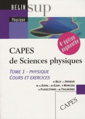 CAPES de Sciences physiques - Belin - 9782701148830 -