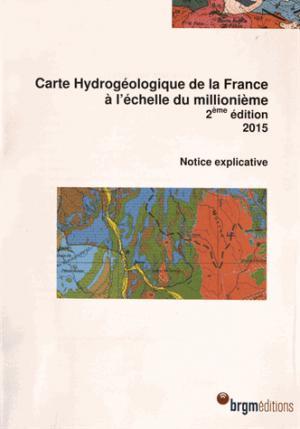 Carte hydrogéologique de la France à l'échelle du millionnième - brgm - 9782715925991 -