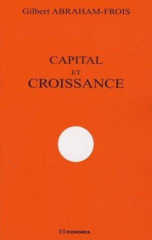 Capital et croissance - Economica - 9782717855371 -