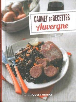 Carnet de recettes Auvergne - Ouest-France - 9782737373770 -