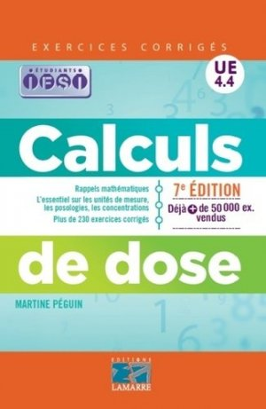 Calculs de dose UE 4.4 - lamarre - 9782757308011 -