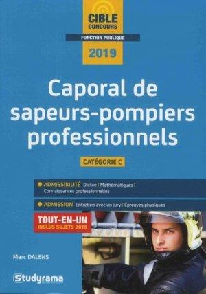 Caporal de sapeurs-pompiers professionnels - studyrama - 9782759037872 - livre médecine 2020, livres médicaux 2021, livres médicaux 2020, livre de médecine 2021