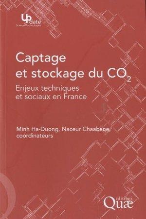 Captage et stockage du CO2 - quae - 9782759203697 -