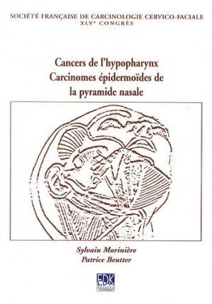 Cancers de l'hypopharynx - edk - 9782759811366 -