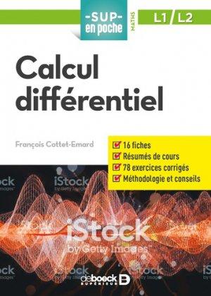 Calcul différentiel - de boeck - 9782807322233