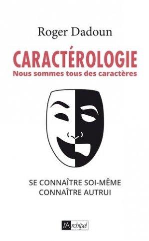 Caractérologie - l'archipel - 9782809826081