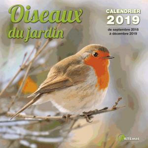 Calendrier oiseaux de jardin 2019 - artemis - 9782816013351 -