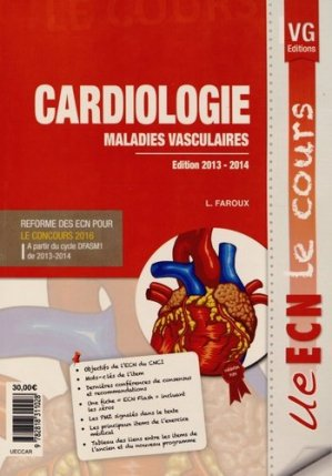 Cardiologie Maladies vasculaires - vernazobres grego - 9782818311028 -