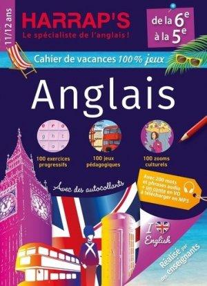 Cahier de vacances Harrap's 100 % jeux anglais de la 6e à la 5e - harrap's - 9782818707470 -