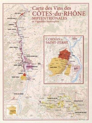 Carte des Vins des Côtes-du-Rhône Septentrionales - benoit france  - 9782843542442 -