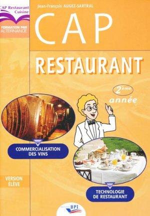CAP restaurant 2e année - bpi - best practice inside  - 9782857083740 -