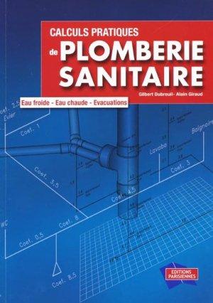 Calculs pratiques de plomberie sanitaire - parisiennes - 9782862430904