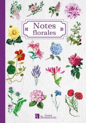 Carnet de notes, notes florales - Christine Bonneton - 9782862538549 -