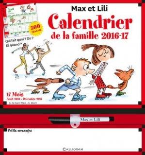 Calendrier de la famille Max et Lili 2016-2017 - Calligram - 9782884807302 -