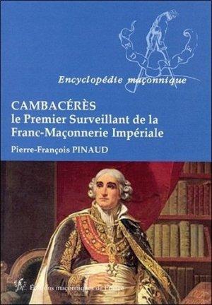 Cambacérès - Editions Maçonniques de France - 9782919601745 -
