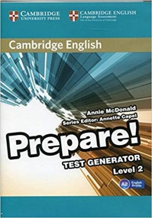 Cambridge English Prepare! Test Generator Level 2 - CD-ROM - cambridge - 9788490361733 -