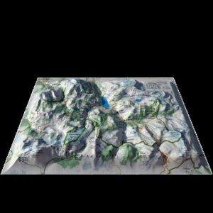 Carte en relief des stations de Tignes-Val d'Isére - 3d map - 9791097206222 -