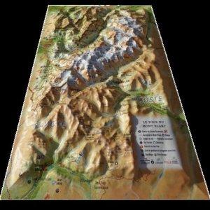 Carte en relief du Tour du Mont Blanc - 3D Map - 9791097206246 -
