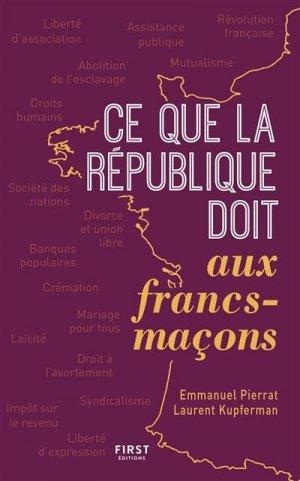 Ce que la France doit aux francs-maçons - first editions - 9782412054666 -