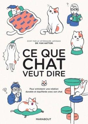 Ce que chat veut dire - marabout - 9782501133517 -