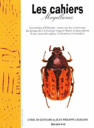 Cetoniidae d'Ethiopie: Notes sur les Centrantyx du groupe de Centrantyx rougeoti Ruter et description d'une nouvelle espèce (Coleoptera, Cetoniidae)  Hors série - magellanes - 9782911545757 -