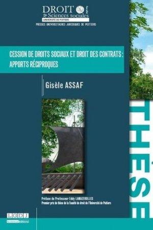 Cession de droits sociaux et droit des contrats : apports réciproques - Presses universitaires juridiques de Poitiers - 9791090426795 -