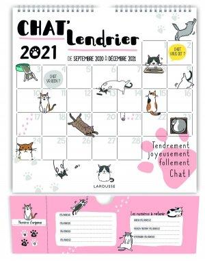 Chat'lendrier 2021 - larousse - 9782035991263 -
