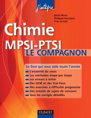 Chimie  MPSI-PTSI Le compagnon - dunod - 9782100556267 -