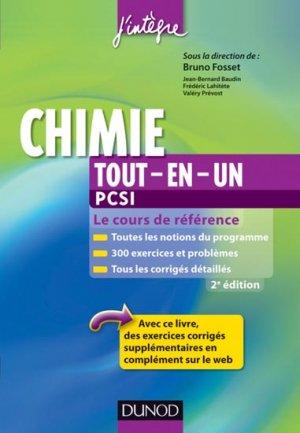 Chimie Tout-en-un PCSI - dunod - 9782100578832 -