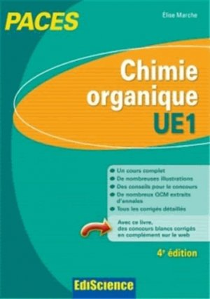 Chimie organique - UE1 - édiscience - 9782100598397 -