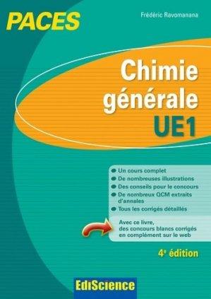 Chimie générale UE1 - édiscience - 9782100712298 -